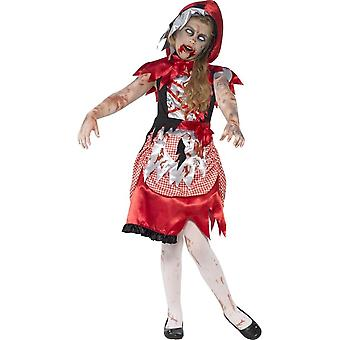 Zombie Miss Hood Costume, Medium Age 7-9