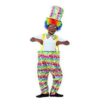 Los niños de payaso traje de circo, disfraces niños, edad media 7-9
