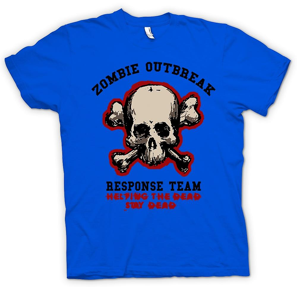 Mens T-shirt - Zombie Outbreak Response - Funny