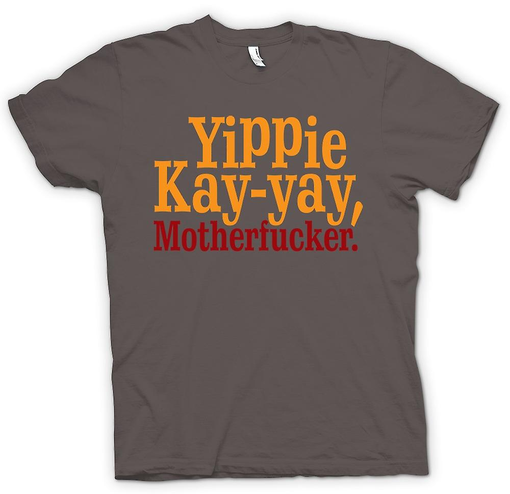 Hommes T-shirt - Yippie Kay - Yay, Motherfucker - citation drôle