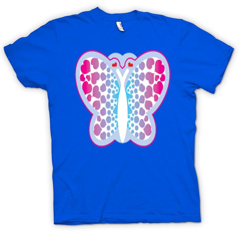 Mens t-shirt-farfalla con i cuori