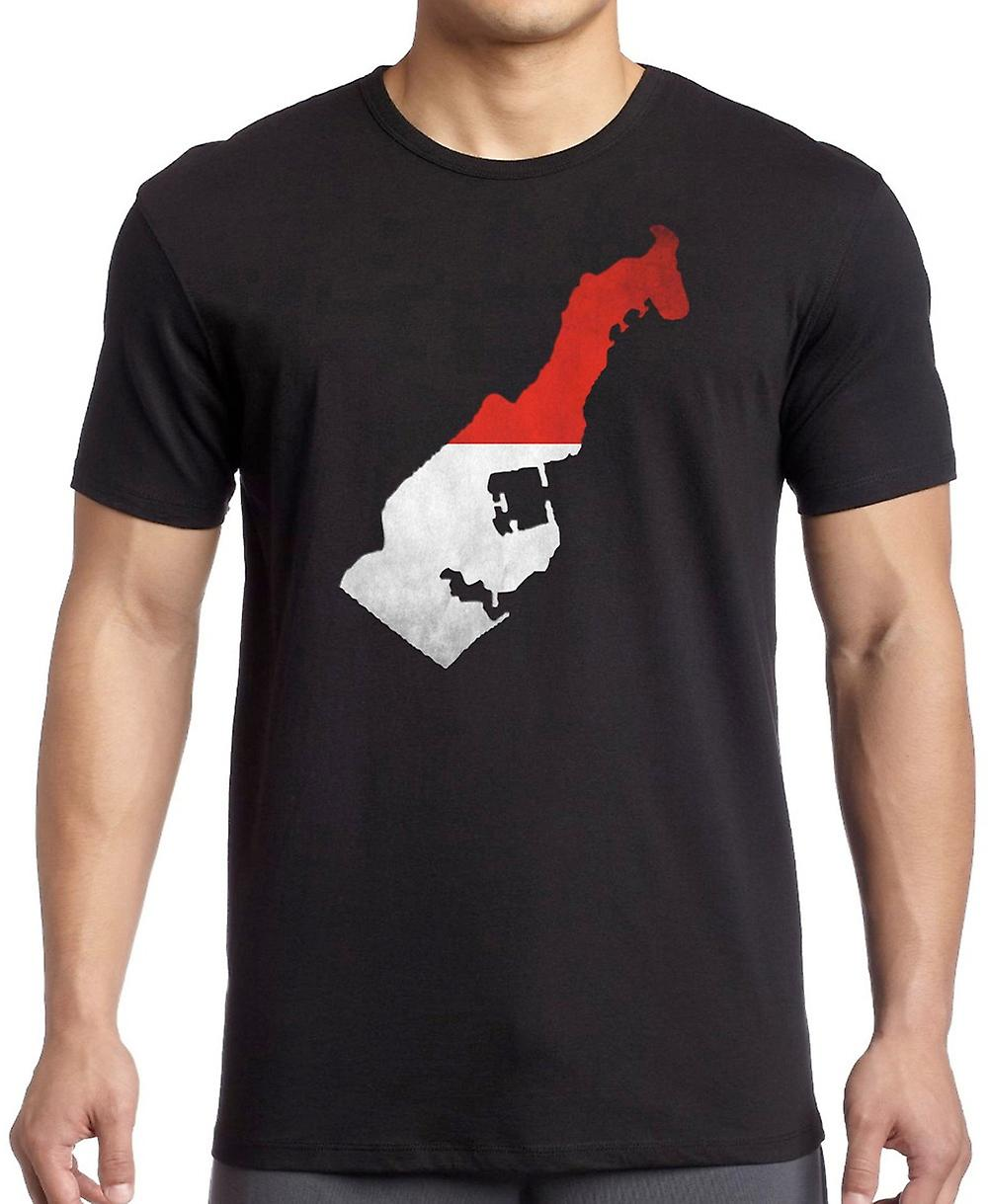 Monaco Flag Map T Shirt