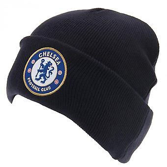 Chelsea FC Official Adults Unisex Turn Up Knitted Hat