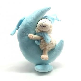 Plush music box blue moon with sheep