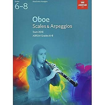 Oboe skalor & arpeggion, ABRSM betyg 6-8: från 2018 (ABRSM Vågar & arpeggion)