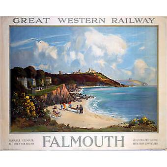 Falmouth (old GWR ad.) fridge magnet