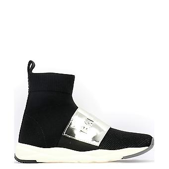 Balmain Running Cameron Black Fabric Hi Top Sneakers