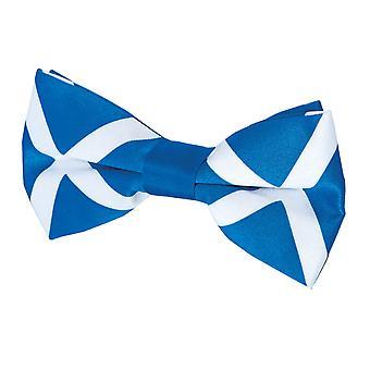 Dobell Mens Scottish Flag Bow Tie Pre-Tied