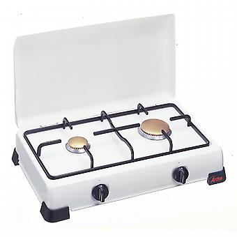 Double cooker to LPG - methane gas. Steel Grill