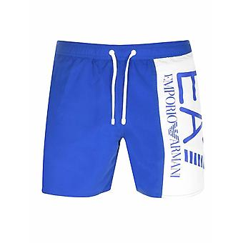 Ea7 EA7 Royal Blue Logo Swim Short