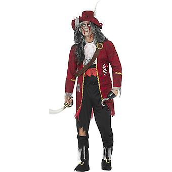 Deluxe zombie pirate captain costume