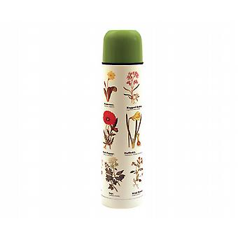 Wild Flowers Vacuum Thermos Flask With Cup (500ml)