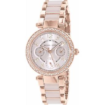 Michael Kors Mk6110 Women's Rose Gold With Metal Strap Watch
