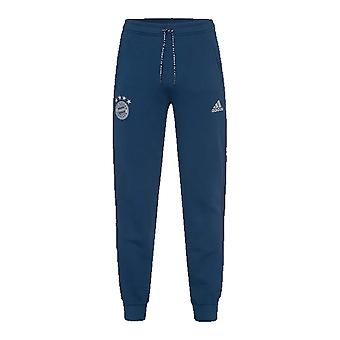 2019-2020 Bayern de Munique Adidas calças de suor (Night Marine)
