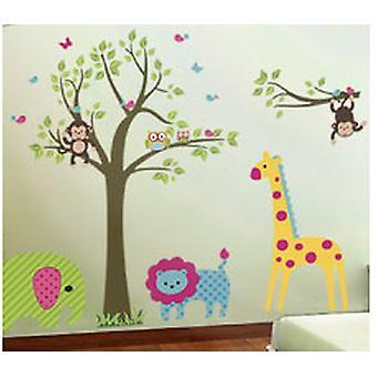 Wall Decor-Wild animals 238 x 170 cm.