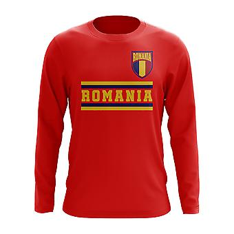 Rumänien Core Football Country Long Sleeve T-Shirt (Red)