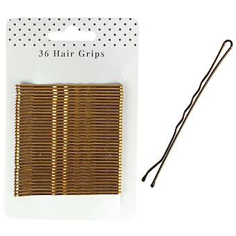 Molly & Rose Bronze hår greb 65mm 36 Pack