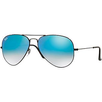Ray - Ban Aviator black mirrored blue gradient