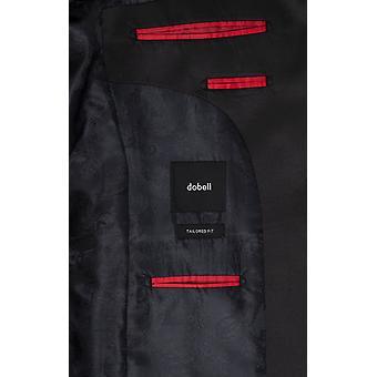 Dobell Mens Blue Tartan Tuxedo Jacket Regualr Fit Peak Lapel