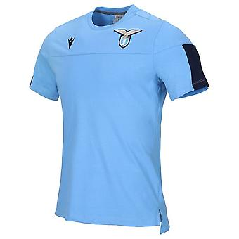 T-shirt officiel de coton Lazio 2019-2020 (bleu)