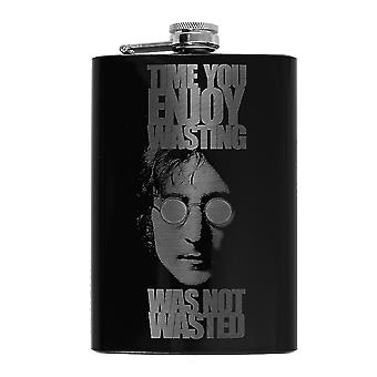 8oz time you enjoyed wasting wasn't wasted black flask l1