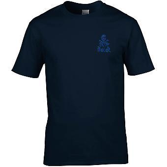 Paris Dakar Rally Embroidered Logo - Motorbike Biker - Cotton Premium T-Shirt