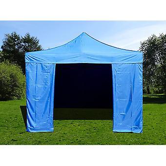 Vouwtent/Easy up tent FleXtents Easy up pavillon Basic v.2, 4x4m Blauw, inkl. 4 zijwanden