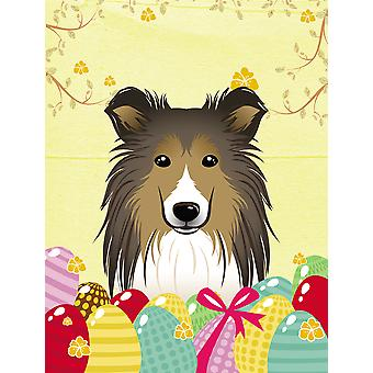 Sheltie Easter Egg Hunt Flag Canvas House Size BB1924CHF