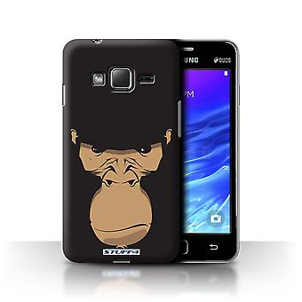 STUFF4 Case/Cover for Samsung Z1/Z130/Gorilla/Chimp/Monkey/Animal Faces