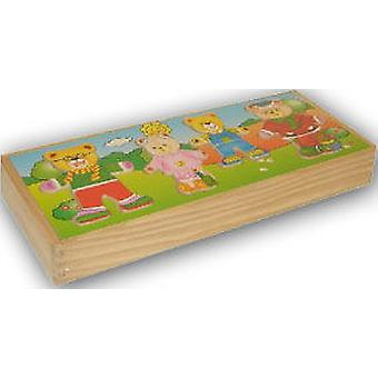 Import Bears Puzzle Box Wood 33X14 (Kinderen , Speelgoed , Bordspellen , Puzzels)