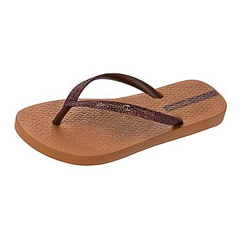 Ipanema Sparkle Womens Flip Flops / Sandals - Brown Bronze