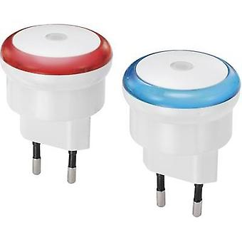 2-piece set Circular LED Red, Blue Renkforce