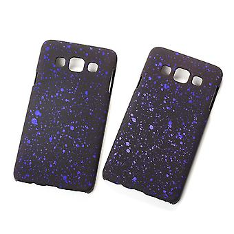 Cell phone cover case bumper shell for Samsung Galaxy A3 2015 3D star purple
