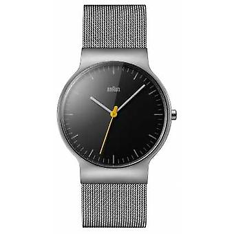 Braun Mens Classic Slim Mesh Black Dial BN0211BKSLMHG Watch