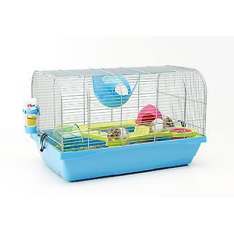 Bristol Hamster Cage argenté/bleu 59x38x37cm