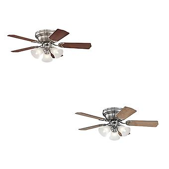 "Westinghouse ceiling fan Contempra Trio Brushed Nickel 90 cm / 36"" with lights"