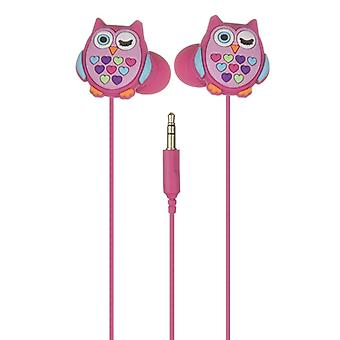 MY DOODLES Earbud Owl Pink In-Ear