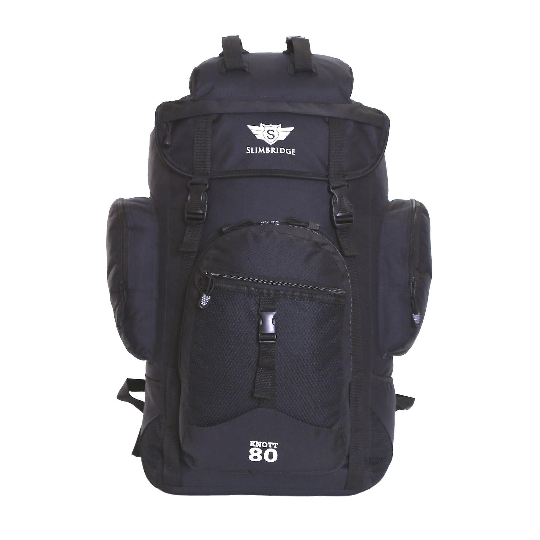 Slimbridge Knott 45 Litre Hiking Backpack, Black