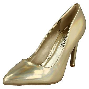 Ladies Anne Michelle Metallic Court Shoes F9948