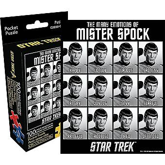 Star Trek Emotions of Spock 100 piece mini jigsaw puzzle (nm)