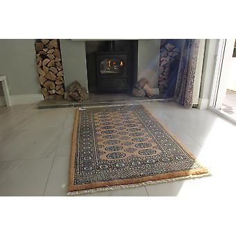 Guld håndlavede Pakistan Mori uld tæppe