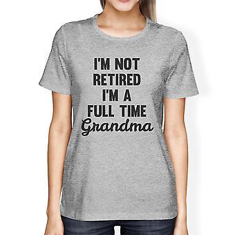 Regalo de día de madres T gráfico divertido camisa mejor de no jubilado mujer gris