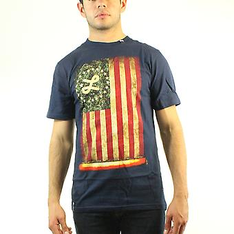 Lifted Research Group Lifted Glory Vertical USA Vintage Flag Men's Blue T-shirt