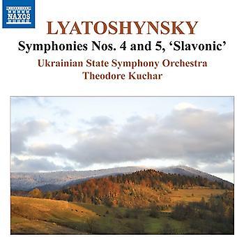 Lyatoshynsky / Kuchar / Ukrainian So Orch - Syms 4 & 5 Slavonic [CD] USA import