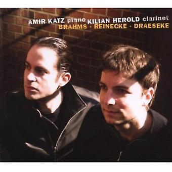 Kilian Herold & Amir Katz - Brahms, Reinecke, kirkemusik [CD] USA importerer