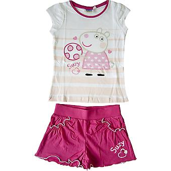 Mädchen Peppa Pig Set T-shirt & Shorts Set