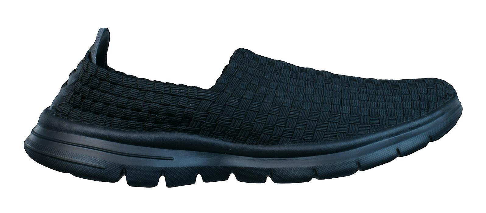 On Pessoa Mens Tech Black Shoes Trainers Air Woven Slip xTIOw5w