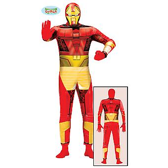 Super Hero iron Bionic costume jumpsuit mens