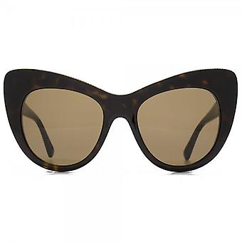 Stella McCartney Falabella Oversized Cateye Sunglasses In Havana