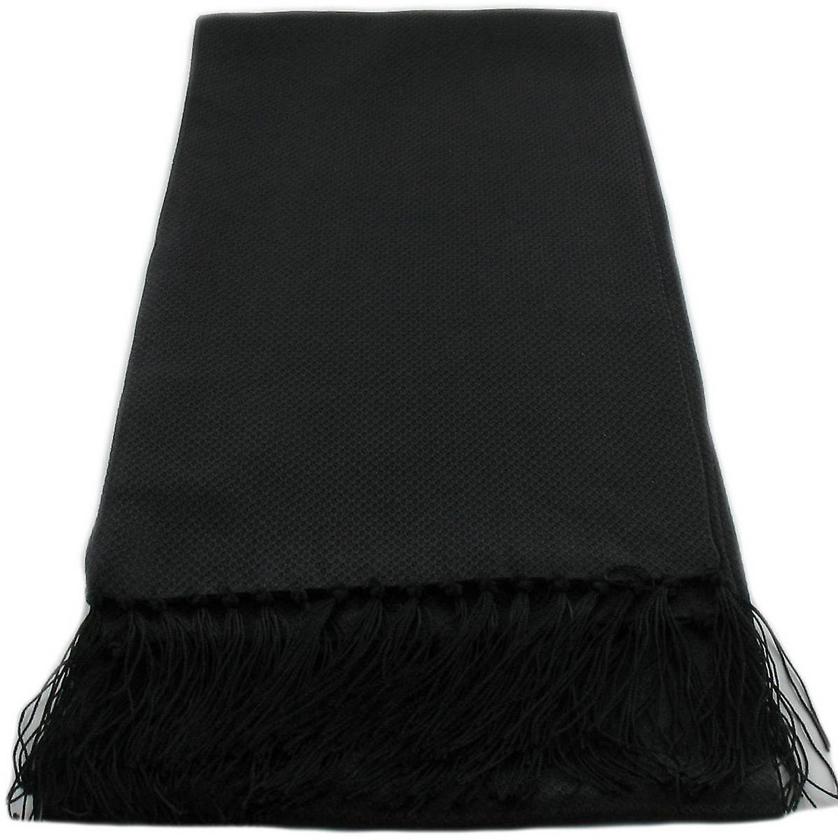 Michelsons of London Narrow Dress Silk Scarf - Black